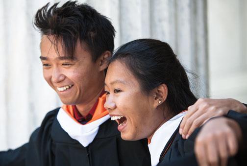New grads: Chris Leung '13 and Iris Zhou '13