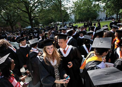 Kaitlin Poladian '12, with Carter Greenbaum '12, is a Tiger to the core.
