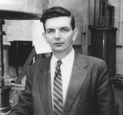 Robert Dicke '39 at Palmer Lab, in a photograph likely taken in the 1960s.