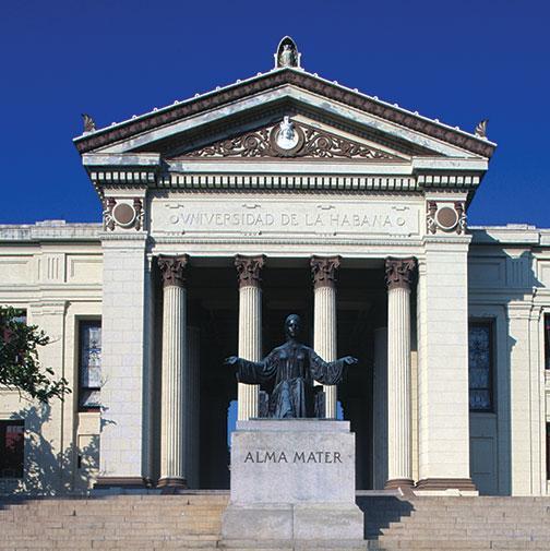 The main building of the University of Havana