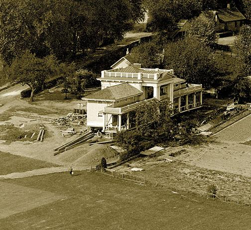 The golf clubhouse was shifted here to make way for the Graduate College, built on the links over the objections of former Princeton president Woodrow Wilson 1879. Among those to see the view from Cleveland Tower was F. Scott Fitzgerald 1917, who later wo