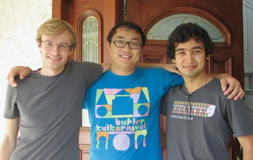 Collections partners, from left, Jordan Lee GS, Tony Xiao '12, and Arman Suleimenov *12.