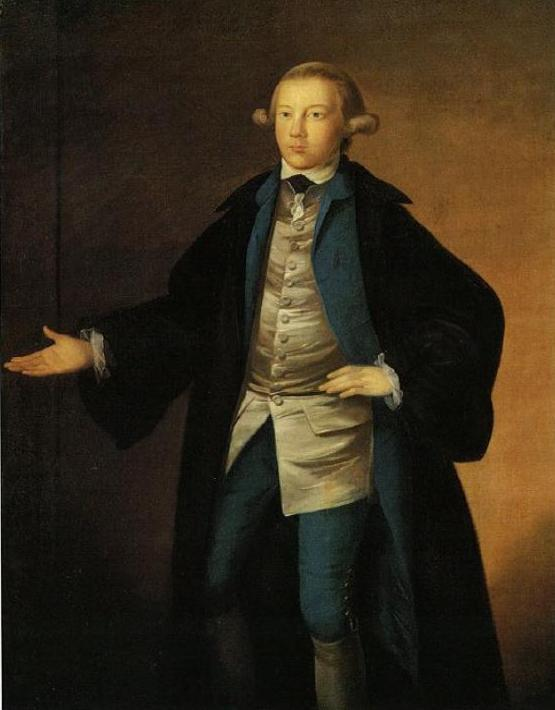 James H. McCulloch 1773 in his undergraduate robes.