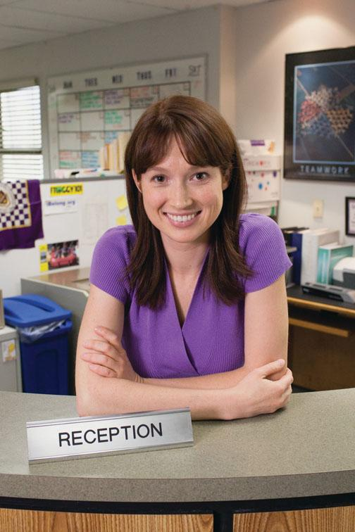 "Kemper in her role as Erin, the receptionist, on ""The Office."""