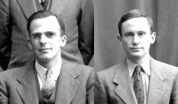 Lyman Spitzer *38, left, and Martin Schwarzschild