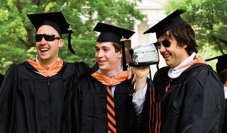 From left, Kyle Koncz '08, Kevin Steuerer '08, and Noah Savage '08