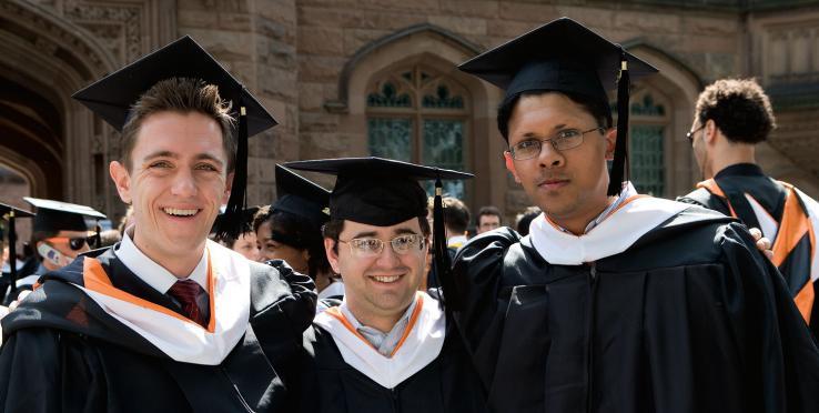 From left: David Kwasniewski '08, Luis Argueso '08, and Shriram Harid '08