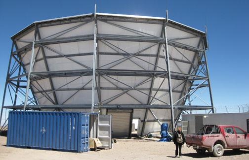 The Atacama Cosmology Telescope in Chile.