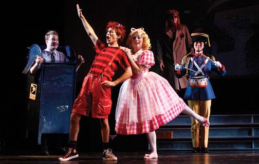 "Anthony Roth Costanzo '04, foreground, plays the title role in the Manhattan School of Music's production of ""Griffelkin"" in 2007."