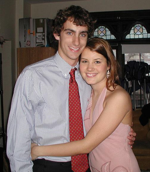 Like her mother, Laura Haas '06 married a classmate. Here she is pictured at Houseparties in 2004 with the man who would become her husband, Jamie Davidson.