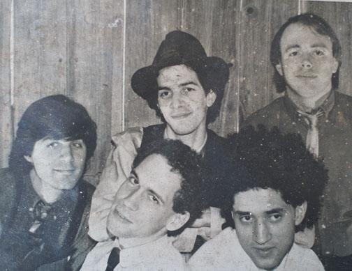 The Groceries, Morse's Princeton band. Morse is at the lower right. Other band members are, from left, Max Crandall, Andrew Gomory '79, Gregory Frey '78, and Michael Steelman '78.