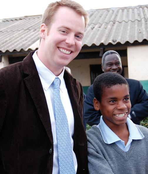 Oliver Barry '05 in Zambia.
