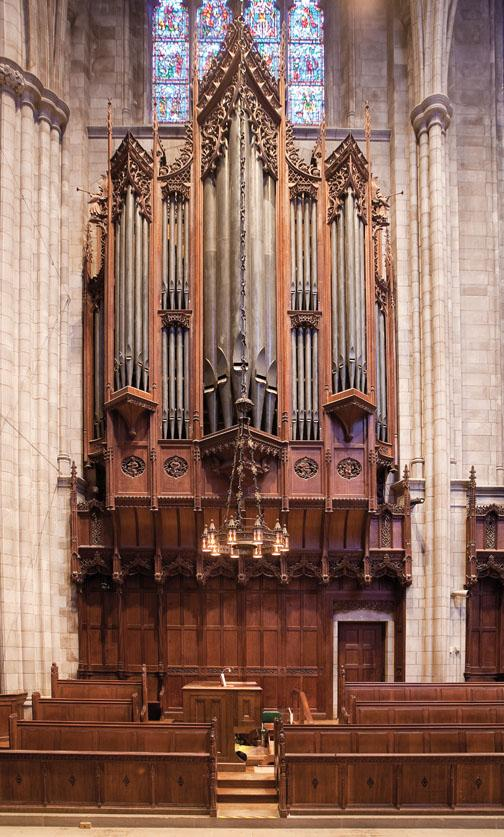 "And there is a bit of ­trickery at work, for the pipes directly above the organ console don't actually make any sound. ""They're dummy pipes,"" says Plutz. ""Part of the ­aesthetic [in 1928] was that they ­didn't want the organ to sound too â€"