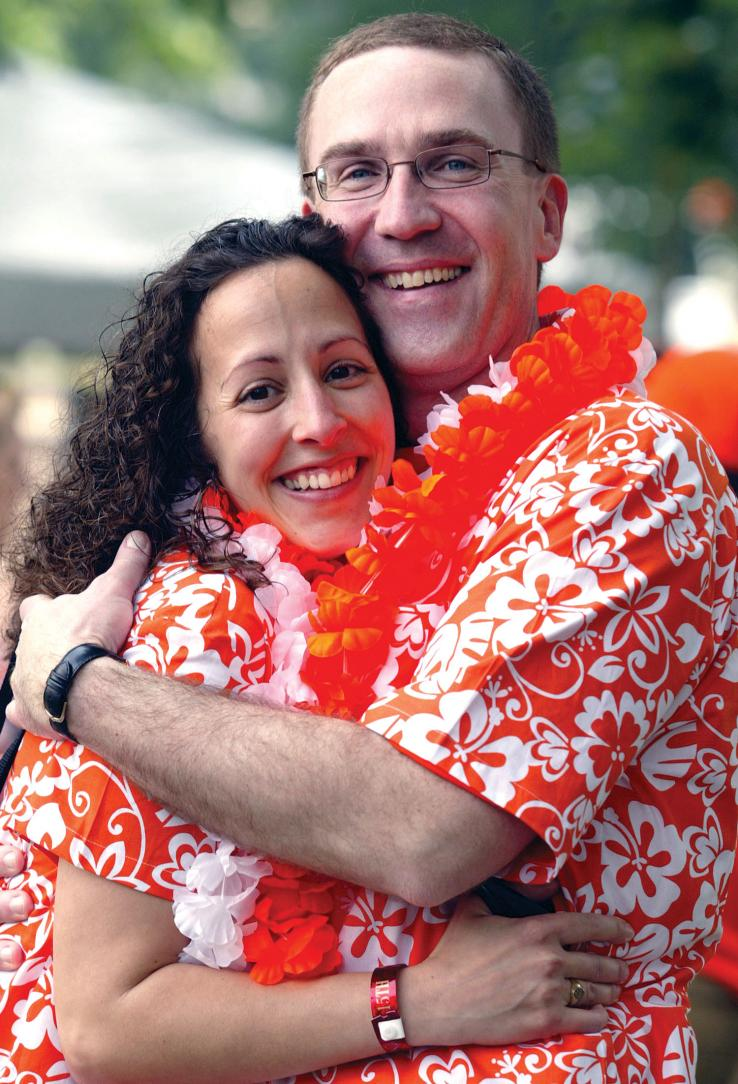 Annmarie Cano '93 and Lee Wurm enjoy Reunions together.