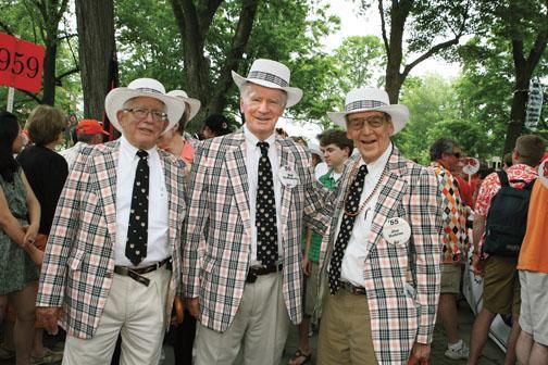 1955 reuners, from left: Rick Sears, Bill McRoberts, and Jim Rubins.
