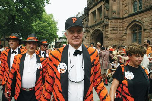 Rock the P-rade: The Class of '65, including Peter Schundler, John Turney, and Bill Davis, show reuners that rock 'n' roll will never die.