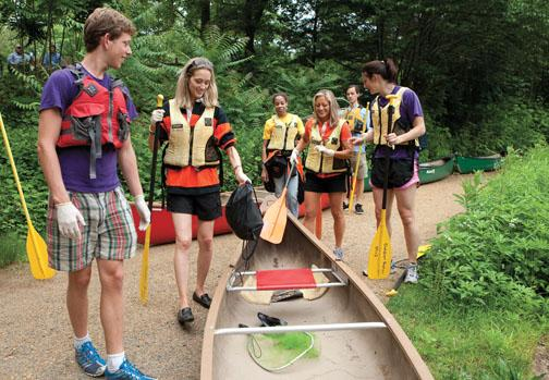 Amid the fun, the Class of 2000 works to clean up the canal.