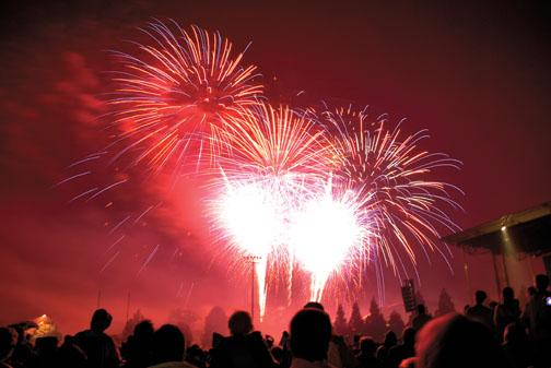 With the traditional fireworks display, Princeton lights up the sky.