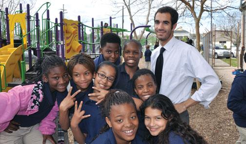 Kit Tollerson '08's students, in New Orleans, showed progress on state exams.