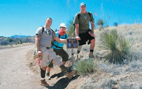 Alex Wilson '03, left, during the Bataan Memorial Death March in New Mexico in 2008.