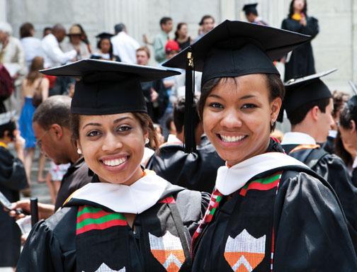 Anita Obodo '10, left, and Jasmine Ellis '10