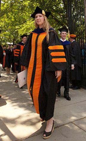 Academic regalia at Princeton's Commencement, 2011.