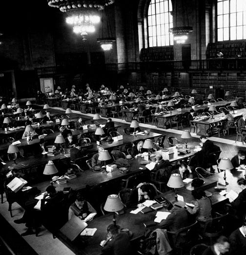Undated photo of the Rose Reading Room.