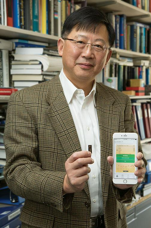 """In developing countries, there often isn't good access to medical testing, but everyone has a cellphone,"" Stephen Chou says."