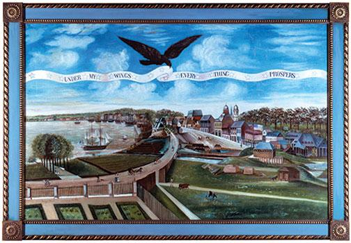 In 1803, the French government offered to sell the Louisiana territory (which included New Orleans, rendered here in a painting from that period) to the United States for about 4 cents an acre.