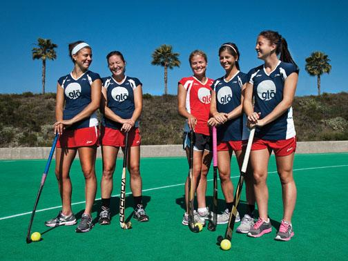Michelle Cesan '13, Maren Langford '06, Kathleen Sharkey '12, Katie Reinprecht '12, and Julia Reinprecht '13 (From Left)