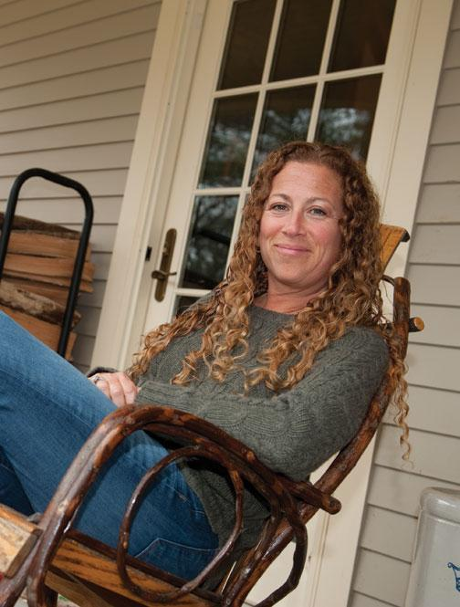Jodi Picoult '87 at home in Hanover, N.H.