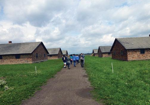 "The students spend hours walking the length of the Birkenau camp. ""The efficiency, the disregard for human life — I feel a lot of anger,"" says Aleks Taranov '15."