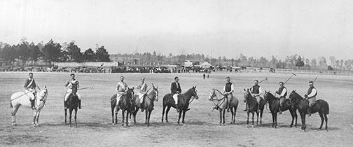 Polo players at Princeton, in the early 1900s