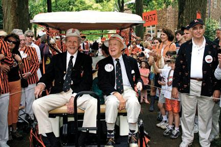 Dapper as ever, Bill Coors '38, left and Norm Carter '38 celebrate their 70th.