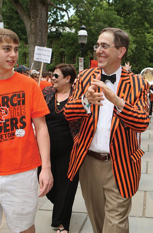 President Eisgruber '83 at the head of the P-rade