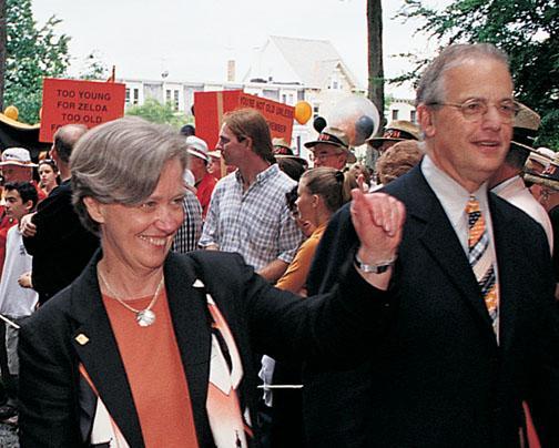 Harold Shapiro *64 and Tilghman at Reunions 2001