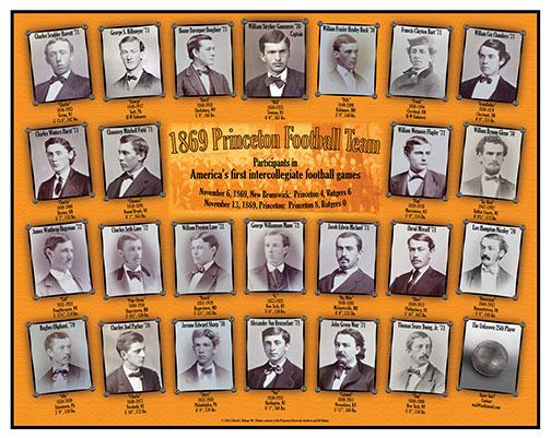 David Nathan '90 located photos of 24 known players from the 1869 games.
