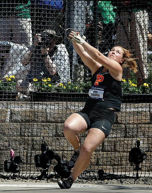 Olympic hopeful Julia Ratcliffe '16 finished second in the NCAA hammer throw.