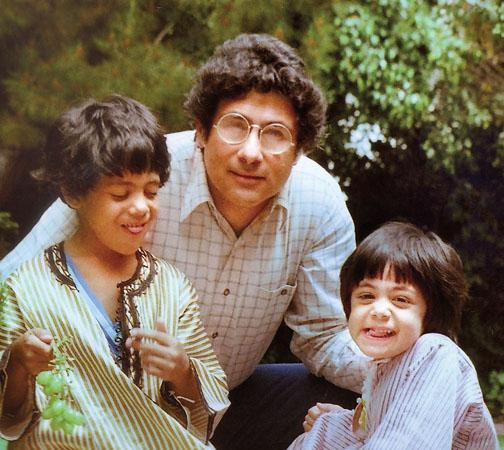 A Princeton family: Najla Said, right, with her brother, Wadie '94, and father, Edward '57.