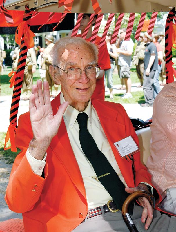 Bill Selden '34 at Reunions in 2009.