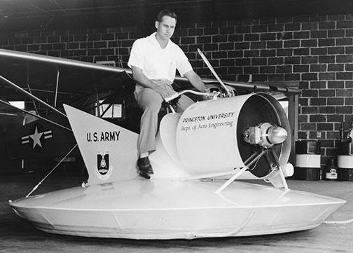 W. Barry Nixon *60 test drives the Air Scooter in 1959.