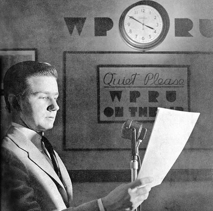 WPRU founder Henry Grant Theis '42
