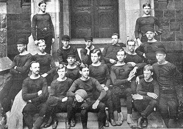 Princeton and Yale played their first Thanksgiving Day game in 1876. (Athletics at Princeton — A History)