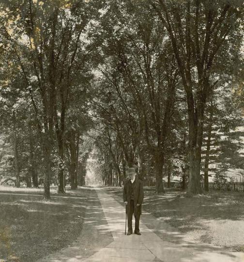 McCosh Walk, with himself: Genius loci