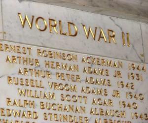 Names displayed in the Nassau Hall Memorial Atrium. (PAW)