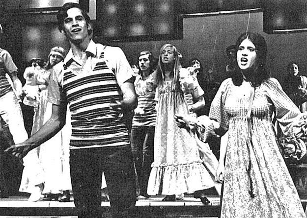 The 1970-71 Triangle Club show, Cracked Ice, featured a 40-member cast and a range of material, from Laugh-In-style one-liners to 20-minute theatrical pieces. (PAW Archives)