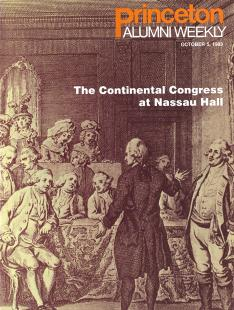 For a brief time in 1783 — 235 years ago — the Continental Congress left  Philadelphia and convened in Nassau Hall. The term 7e33cf576