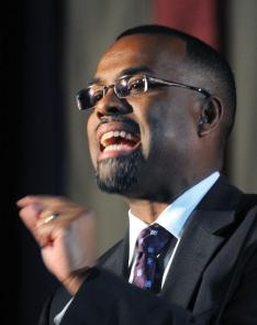 "Professor Eddie S. Glaude Jr. *97 says he sought to ""debunk the myth of the black church as ­necessarily prophetic."""