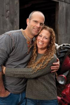 Picoult with her husband, Tim van Leer '86.