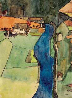 Egon Schiele's Town on the Blue River
